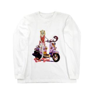 CAT GIRL BIKE Long sleeve T-shirts