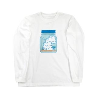 薄浅葱の空 Long sleeve T-shirts
