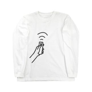 リモコンでOFF Long sleeve T-shirts