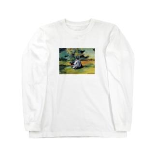 ポール・セザンヌ / 1875 /A Painter at Work / Paul Cezanne Long sleeve T-shirts