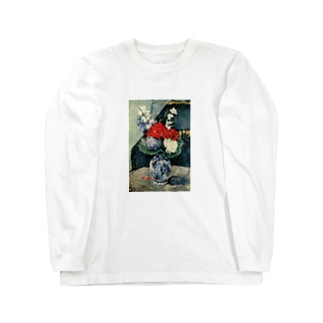 ポール・セザンヌ / 1874 /Still life, Delft vase with flowers / Paul Cezanne Long sleeve T-shirts