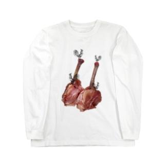 肉食/チキン×鶏さん Long sleeve T-shirts