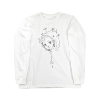 レインコート君(モノクロ) Long sleeve T-shirts