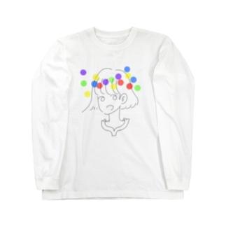 ポップレインボーガール Long sleeve T-shirts