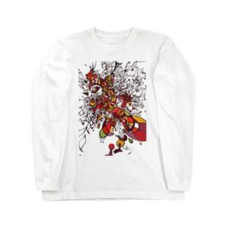 トリの細胞分裂 Long sleeve T-shirts