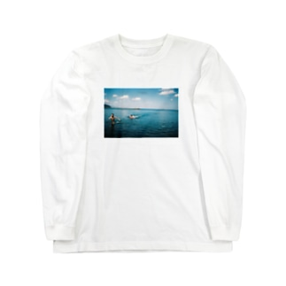 海で鬼ごっこ Long sleeve T-shirts