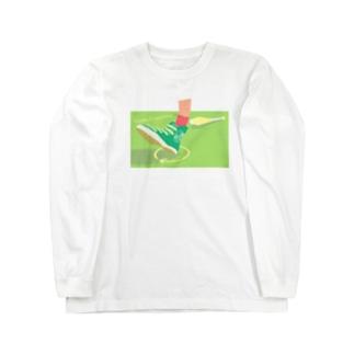 かかとピルエット Long sleeve T-shirts