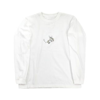 夢見る柴犬 Long sleeve T-shirts