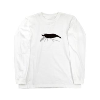 えびちゃんグラフィック Long sleeve T-shirts