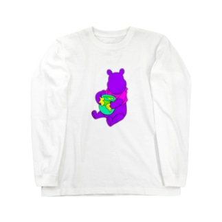 aubergのドーピングベア Long sleeve T-shirts