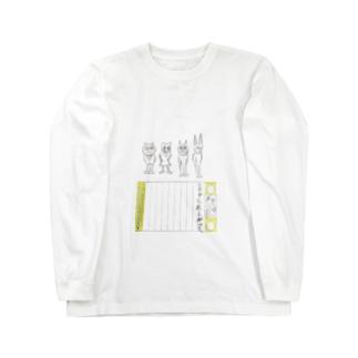 J.H. 絵日記ロングスリーブTシャツ85 Long sleeve T-shirts