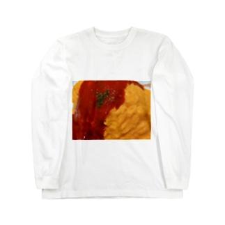 実写オムライス Long sleeve T-shirts
