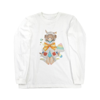 ひつじわたあめ少女 Long sleeve T-shirts