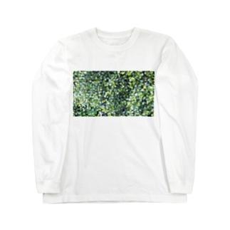 丸葉っぱ Long sleeve T-shirts