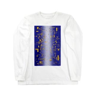 electronic board T [am725] Long sleeve T-shirts