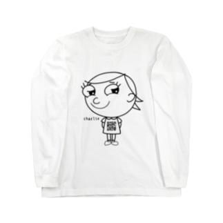 ジロリ    〜charlie 〜   モノクロver. Long sleeve T-shirts