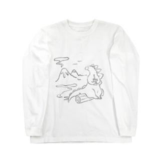 いっぷく恐竜さん Long sleeve T-shirts