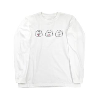 にらめっこ しろ Long sleeve T-shirts