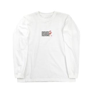 擬人化桃ダブル パターンⅡ Long sleeve T-shirts