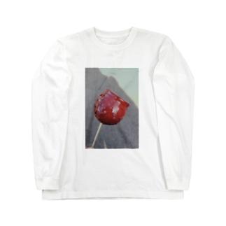 りんご飴 Long sleeve T-shirts