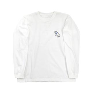 かしわの犬(左上斜め45度向き) Long sleeve T-shirts
