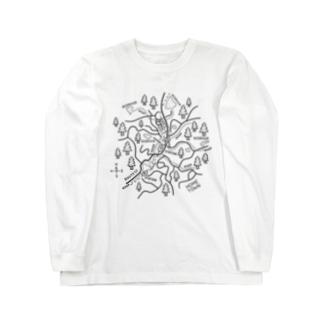 久米南町のイラスト Long sleeve T-shirts