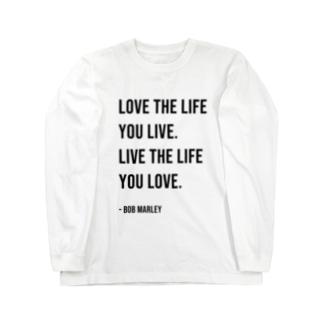 Hello BoB Marley `LOVE LIFE!!` Long sleeve T-shirts