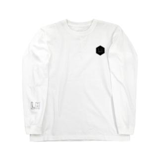 BACK転写プリントP/O Long sleeve T-shirts