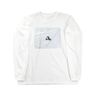 冬を越すタピオカの親子 Long sleeve T-shirts