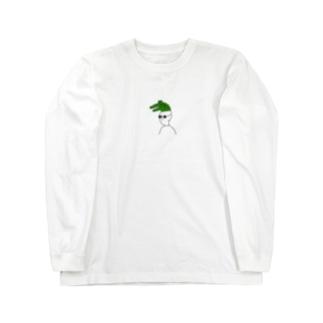 ワニをかぶる Long sleeve T-shirts