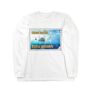 テングダイ★白地の製品だけご利用ください!! Striped boarfish★Recommend for white base products only !!  Long sleeve T-shirts