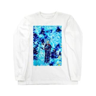 氷河期の虚無僧 Long sleeve T-shirts