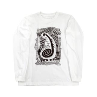 kw_01b_縄文 Long sleeve T-shirts