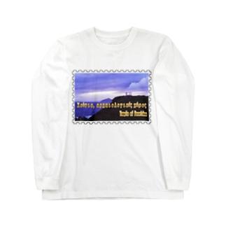 ギリシャ:スニオン岬のポセイドーン神殿★白地の製品だけご利用ください!! Greece:Temple of Poseidon at Cape Sounion★Recommend for white base products only !! Long sleeve T-shirts