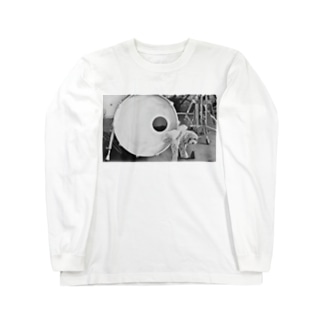 ドラム×犬 Long sleeve T-shirts