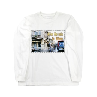 ギリシャ:雨上がりのアテネ★白地の製品だけご利用ください!! After the rain in Athens/Greece★Recommend for white base products only !! Long sleeve T-shirts