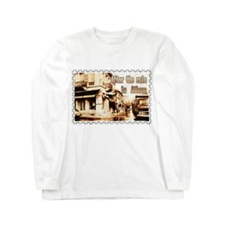 ギリシャ:雨上がりのアテネ★白地の製品だけご利用ください!! After the rain in Athens/Greece★Recommend for white base products only !! Long sleeve T-shirts