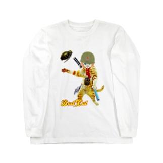 BAD CAT GIRL 手榴弾 Long sleeve T-shirts