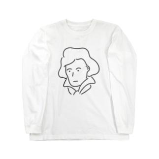 ベートーベン イラスト 偉人 音楽 Long sleeve T-shirts