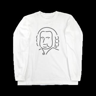 Aliviostaのバッハ イラスト 偉人 音楽 Long sleeve T-shirts