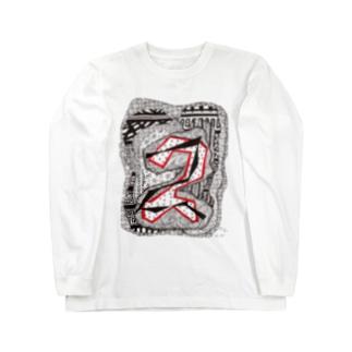 kw_03b_縄文 Long sleeve T-shirts
