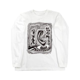 kw_04b_縄文 Long sleeve T-shirts