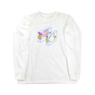 ハンブンダック Long sleeve T-shirts