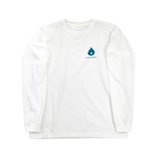 メラメラ(ブルー) Long sleeve T-shirts