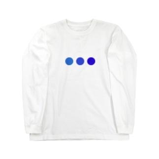 青 Long sleeve T-shirts