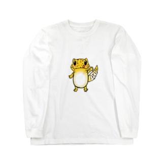 レオパイラストグッズ Long sleeve T-shirts