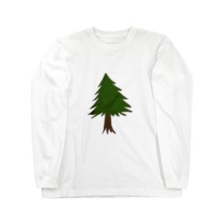 針葉樹。 Long sleeve T-shirts