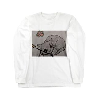 遊ぼうニャン Long sleeve T-shirts