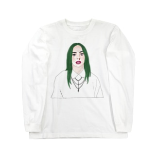 Green Hair Girl Long sleeve T-shirts