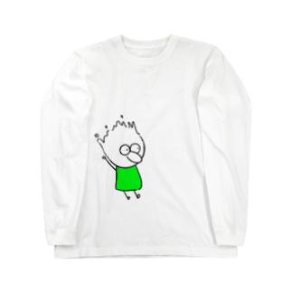 チビィズ(緑) Long sleeve T-shirts